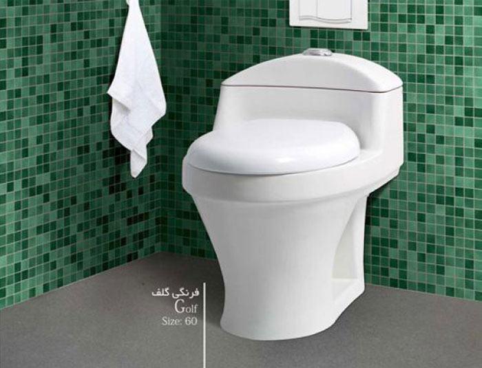چینی کسری توالت فرنگی گلف
