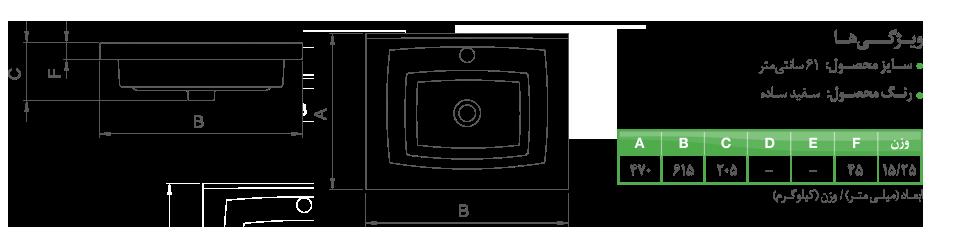 جزئیات روشویی روکابینتی روبینا