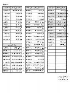 لیست قیمت اخوان صفحه چهارم